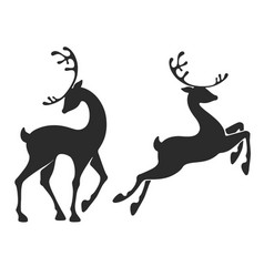 standing deer and jumping deer vector image