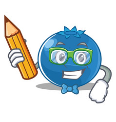 Student blueberry character cartoon style vector
