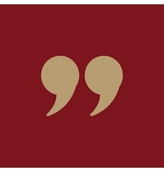 The quote icon Quotation symbol Flat vector
