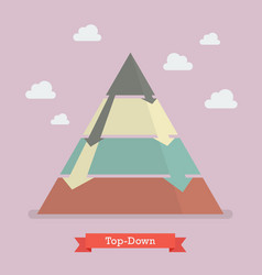 Top-down pyramid business strategy vector