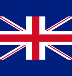 union jack flag of united kingdom vector image