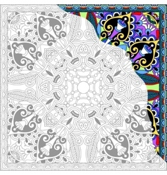 Unique coloring book square page for adults vector