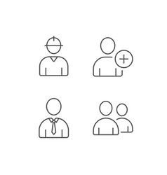 Users group engineer and businessman icons vector