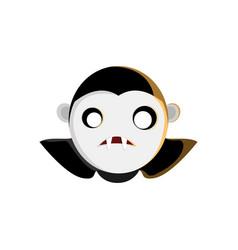 vampire head character design vector image