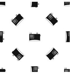 Wall router pattern seamless black vector