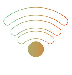 wifi signal icon in degraded green to red color vector image