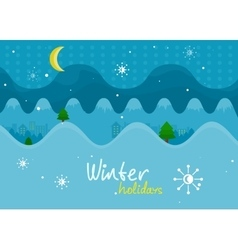 Winter Holiday Mountain Landscape Banner vector image