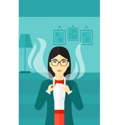 Woman quit smoking vector