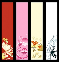 Asian art banners vector image vector image