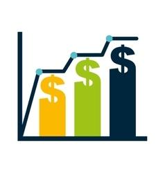 bars statistics economy isolated icon vector image vector image