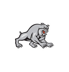 Bulldog Dog Mongrel Prowling Cartoon vector image vector image
