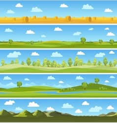 Country landscapes set vector image vector image