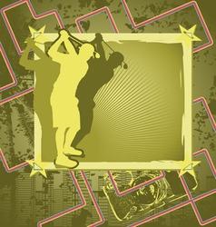 golf vintage frame vector image