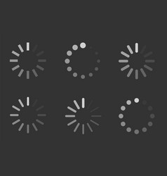 loading signs load indicator icons vector image vector image