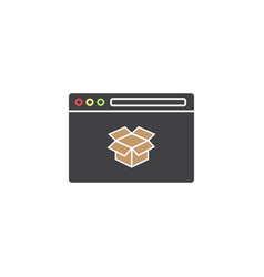 seo packages symbol browser with box vector image vector image