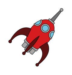 space rocket icon image vector image