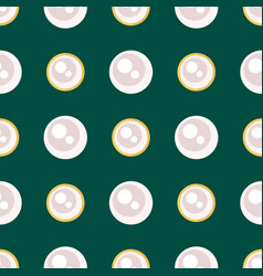 white pearl golden jewellery seamless pattern vector image