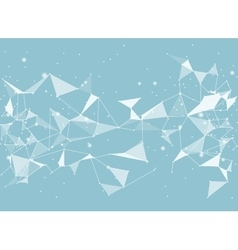 Abstract black background low poly style vector image vector image