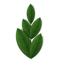 branch of green plant vector image vector image