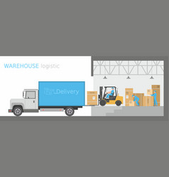 warehouse logistic vector image