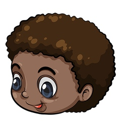 A head of a Black young man vector image