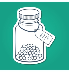 Bottle with pills vector