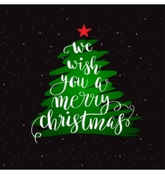 Calligraphy lettering christmas tree vector