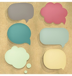 Color Cardboard Structure Speech Bubble vector image