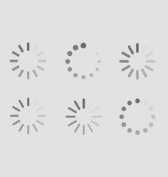 Download sign indicator waiting icons set vector