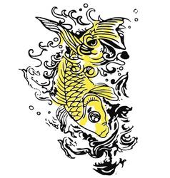 fish tattoo vector image