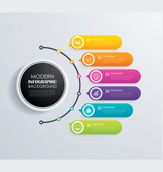 timeline 6 infographic design and marketing vector image
