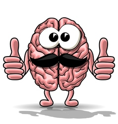 Cartoon brain vector image vector image