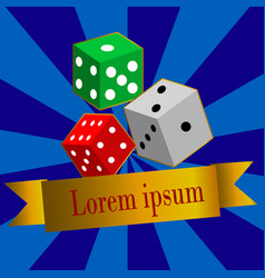 dice casino design background vector image