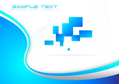 Hi tech blue background vector image vector image