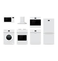 home appliances flat design vector image