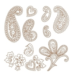 Paisley patterns vector image