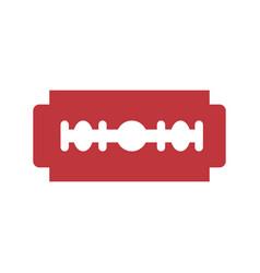 razor blade symbol vector image