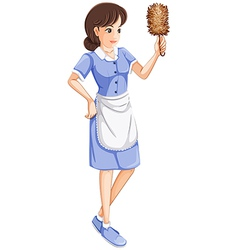 A maid vector image