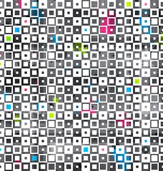 abstract color squares grunge seamless pattern vector image