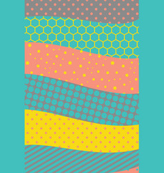 abstract colorful geometric design material vector image
