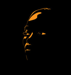African woman portrait silhouette vector