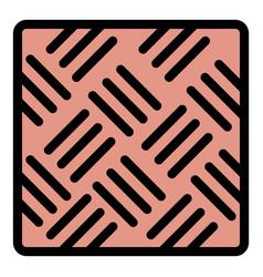 Asphalt paving icon color outline vector