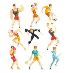 athletic people doing various kinds sports vector image