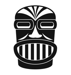 Aztec wood idol icon simple style vector