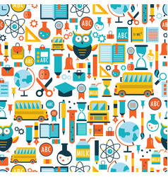 Back to school seamless background pattern vector