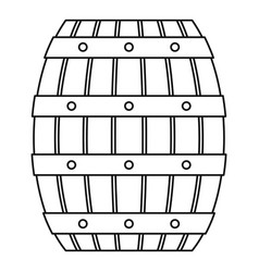 Beer wood barrel icon outline style vector
