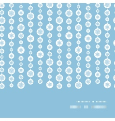 Blue and white snowflakes stripes horizontal frame vector