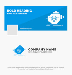 blue business logo template for engine industry vector image