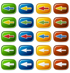 buttons with arrow vector image