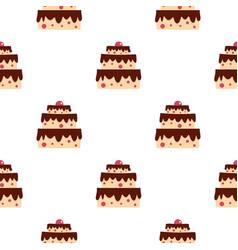 Cake pattern seamless vector